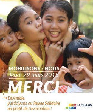 REPAS SOLIDAIRE pour -CAMELEON-