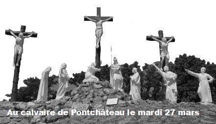 Chemin de croix à Pontchâteau pour les 5èmes